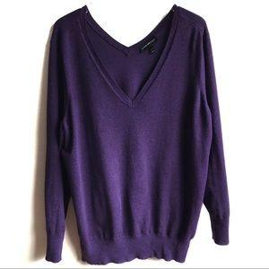 Lane Bryant Double V Sweater Tunic Purple 22/24 3X